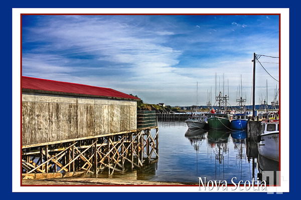 Postcard from Pubnico, Nova Scotia (Pubnico is the oldest Acadian village in North America)