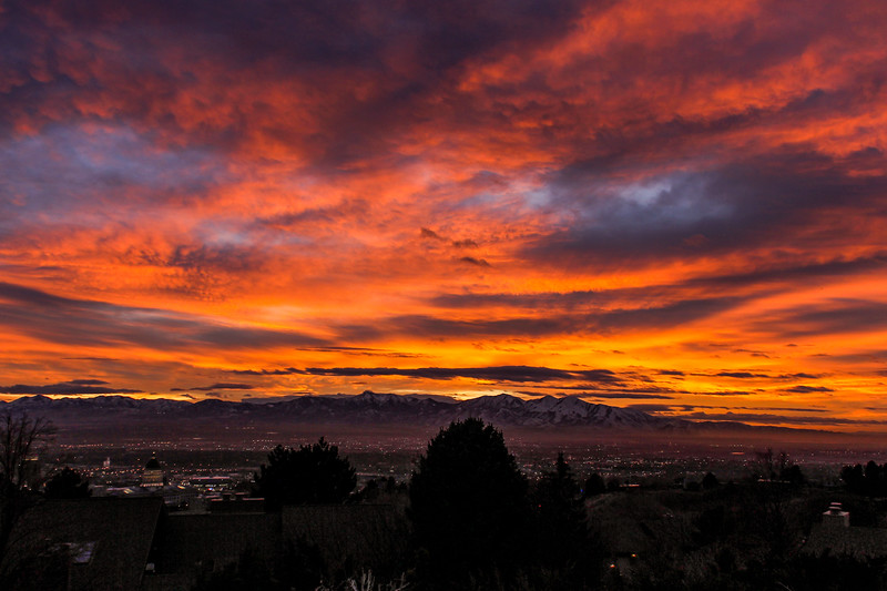 Beautiful sunset over Salt Lake On December 28th.