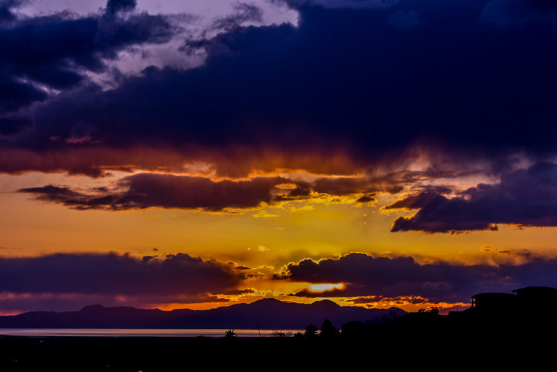 Sun Sets over Antelope Island