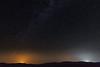 Light from Kemmerer and possibly Lyman light up the smoky night sky.