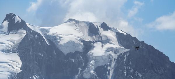 A plane approaches Mount Garibaldi, BC, Canada 09