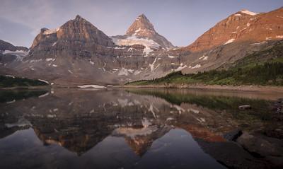 Mount Assiniboine at dawn.
