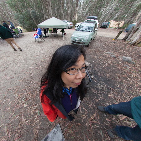 Anita Harrick in 2012 through a fisheye lens.