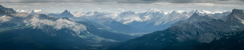 From Fairview Mountain looking off along the Icefields Parkway