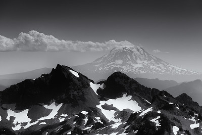 Mount Adams seen in the distance from Panorama Point, Mount Rainier. Mount Rainier National Park 2013.