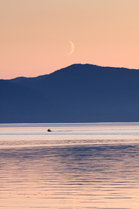 The moon setting, Wrangell, Alaska 2013.