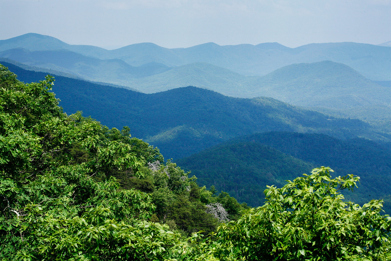 View from Preaching Rock on the AT north of Woody Gap.