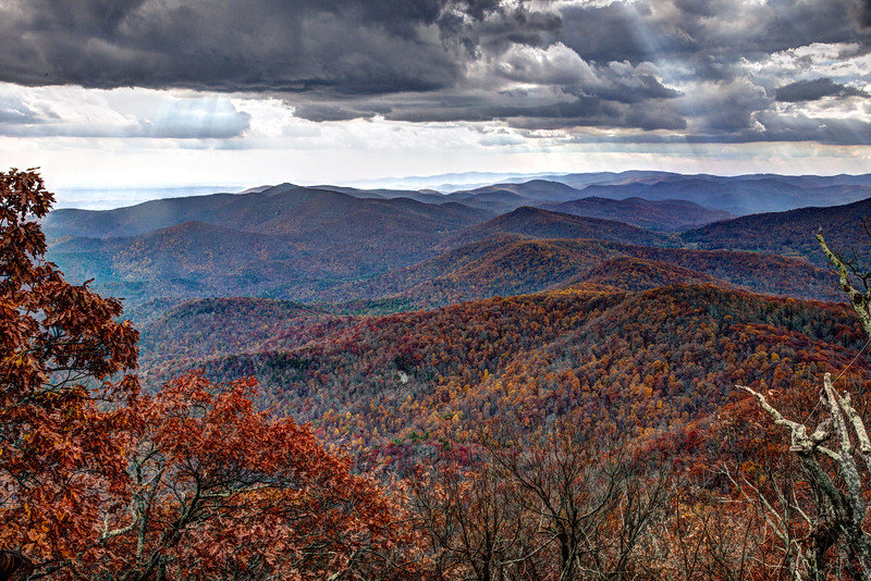 View from Blood Mountain looking south along the AT.