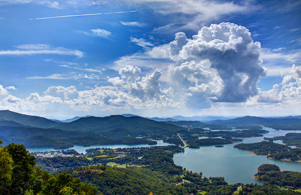 Lake Chatuge and Hiawassee  from Bell Knob.