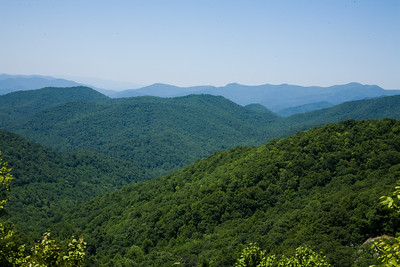 View from Hogpen Gap looking north towareds Hiawassee, Ga.
