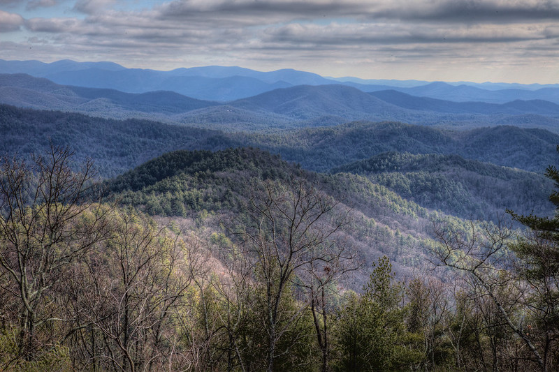 View of the Rich Mountain Wilderness from the Cuhutta Mountains