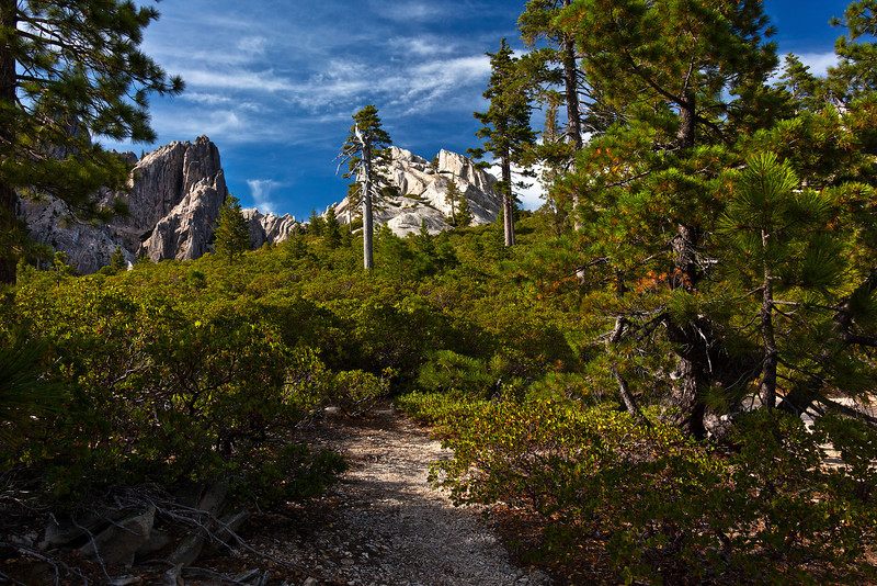 Trail at the Top of Castle Crags State Park, California