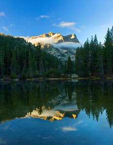 Sierra Buttes Reflected in Sand Pond