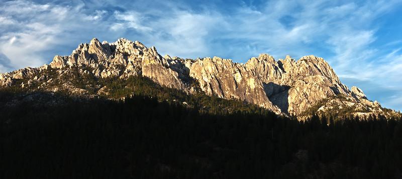 Castle Crags Sunset 1 crop HDR
