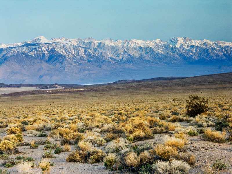 Early Morning View of the Eastern Sierras