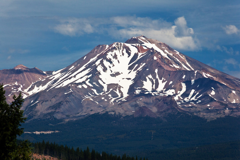 Mt. Shasta Up Close from Castle Crags State Park, California