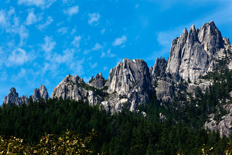 Gray Jagged Peaks of Castle Crags State Park, California