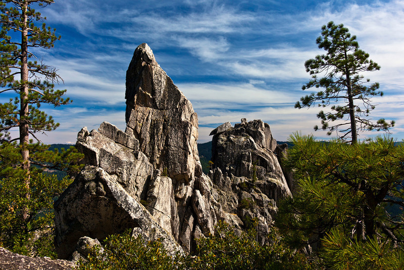 Pointed Rocks of Castle Crags State Park, California