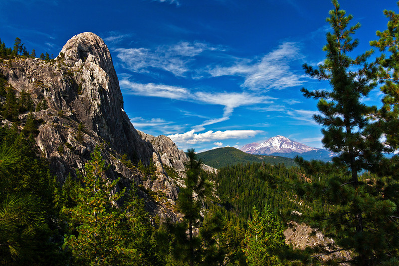 Castle Crags Dome & Mt. Shasta.