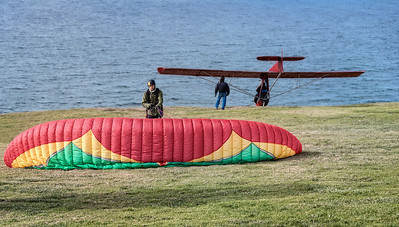 Hang gliders near California State University at San Diego.
