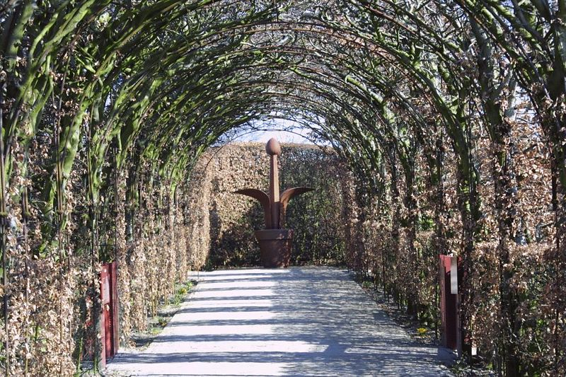 The entrance of the spices and flower garden