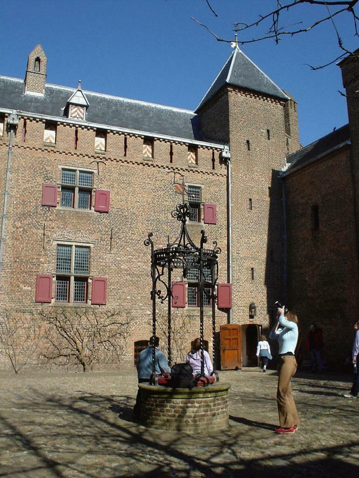 Inside the castle. Center is occupied by a fresh water well