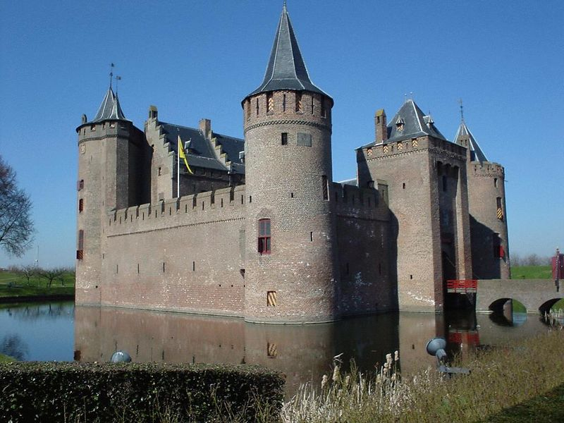 View of the Muiderslot from the entrance