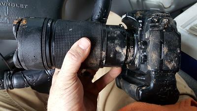 Carnage shot of camera and lens.