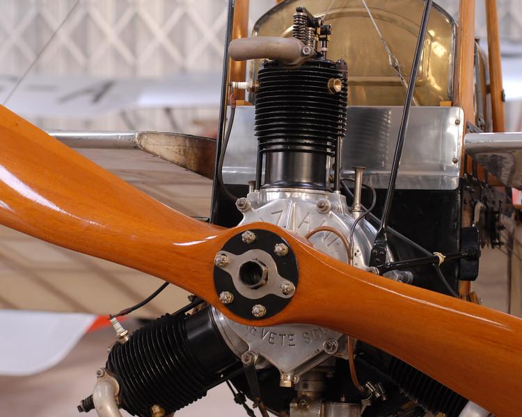 Anzani engine in Deperdussin.<br /> Shuttleworth Collection.
