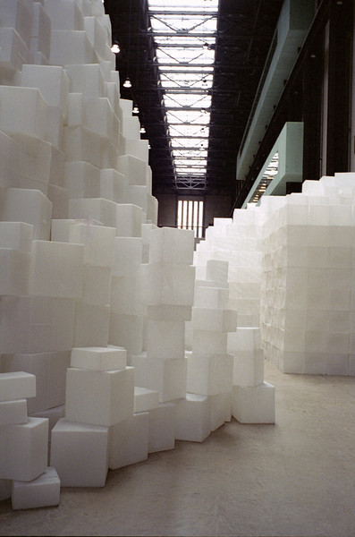 <i>Embankment</i>, Rachel Whiteread's strangely peaceful 2005 installation at Tate Modern: 14,000 plastic casts of the insides of cardboard boxes.