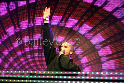 "Radio Ones DJ Zane Lowe performing at the Radio One ""Kick start the Summer"" Festival in Paignton Devon June 2012"