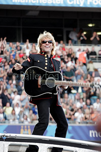 Jon Bon Jovi performing at Manchester City Stadium 2006