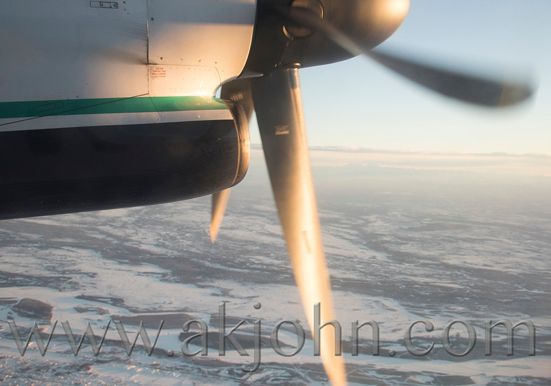 On the way home to Anchorage from Fairbanks.....took this high shutter speed shot to stop the prop.