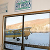 At Chena Hot Springs in Fairbanks when I saw the shot of the airplane thru the window.