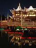 Yuyuan Garden by night.