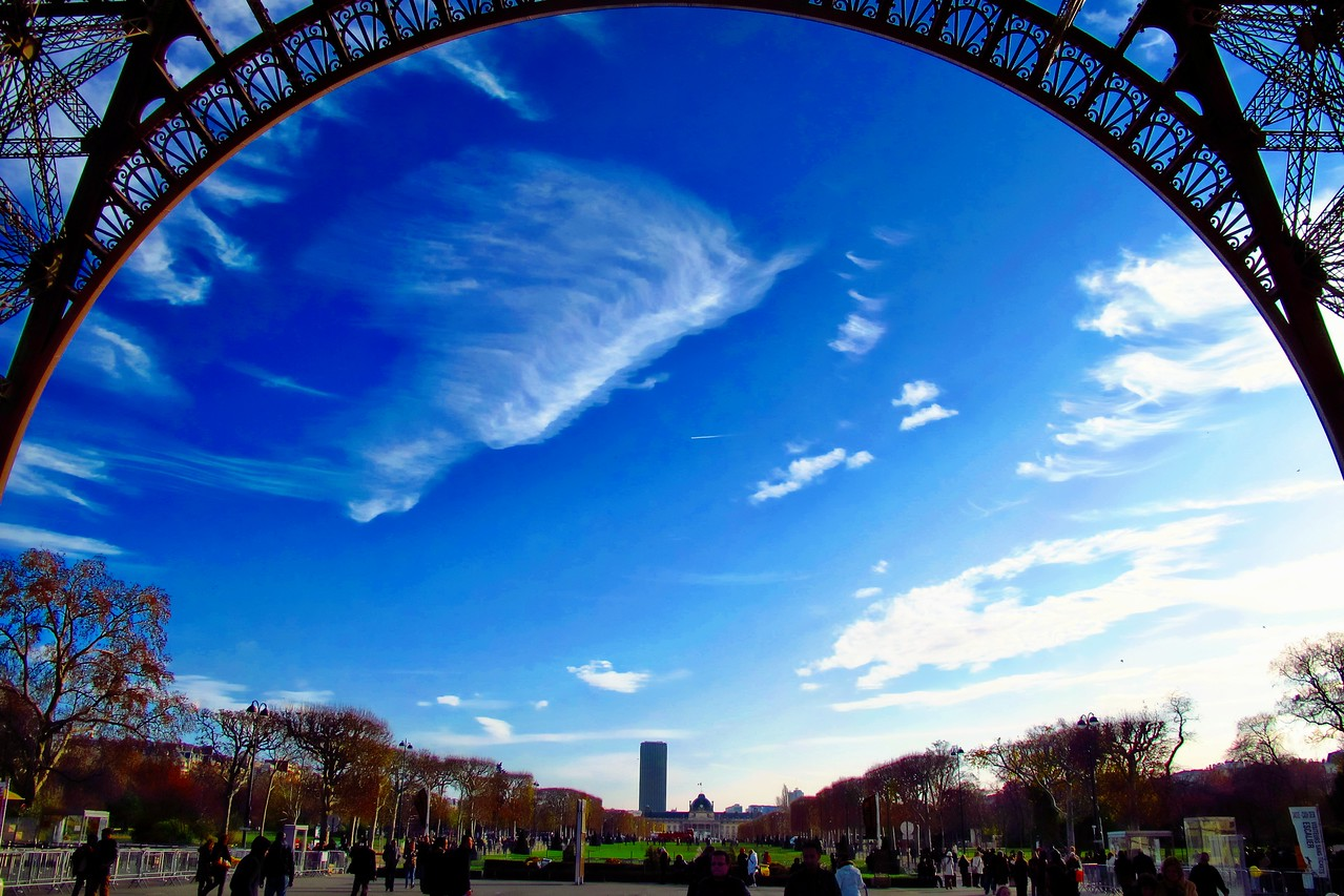 From under the Eiffel