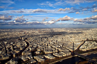 A view from above Eiffel