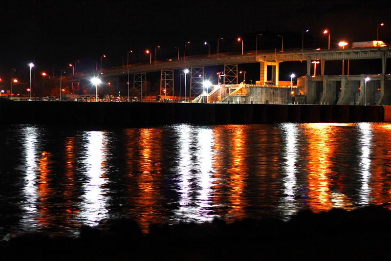 Chickamauga Dam in the night