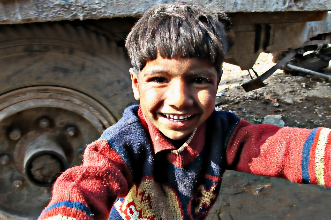 Kid - most friendly kid in Jaipur.
