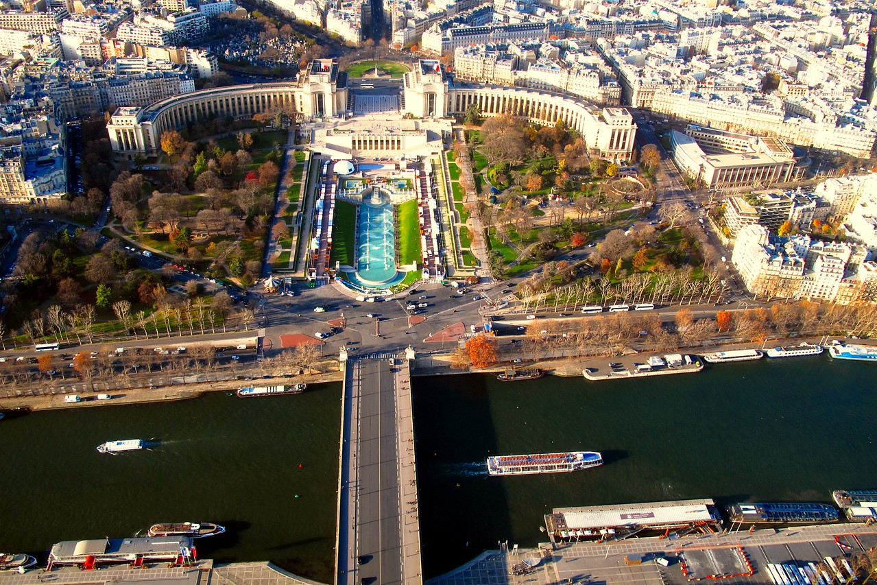 A view from top of Eiffel