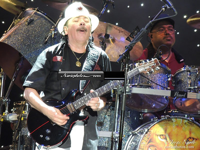Carlos Santana at the BOA Clamshell in the Boston Harbor