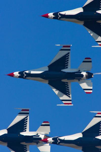 Thunderbirds Underside -Wings Over Houston, Ellington Air Force Base 2010