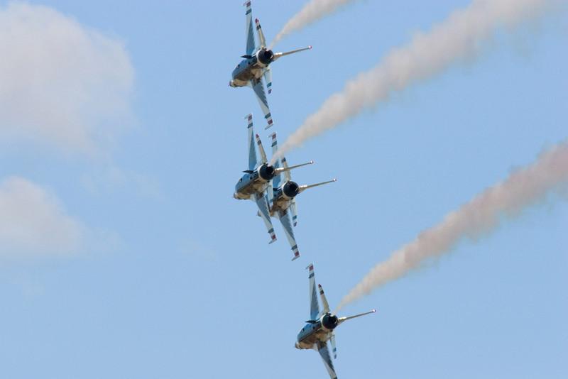 Thunderbirds Close -Wings Over Houston, Ellington Air Force Base 2010