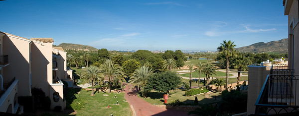 View from La Manga Hotel Room in Spain
