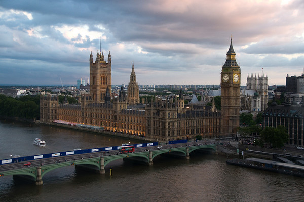 UK Parliament from The London Eye - recently selected to appear in a Discovery Channel documentary!  More details soon.
