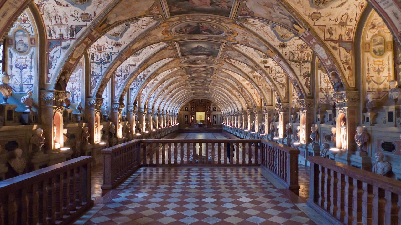 The Renaissance Antiquarium of the Residenz - http://en.wikipedia.org/wiki/Munich_Residenz