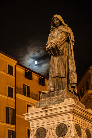 """Bruno Haunting"" This statue of Giordano Bruno was erected at Campo de' Fiori in 1889."