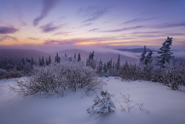 The First Snow - Ester Dome Observatory - Fairbanks, Alaska