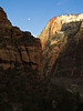 Angel's Landing Trail Moonrise--Zion N.P.