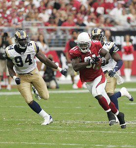 Cardinals vs. Rams home opener. Shot from the field at the Cardinals Stadium. Rams won 16-14. Published in the Foothills Focus, Vol. 4 No.43 September 27, 2006, page 7.